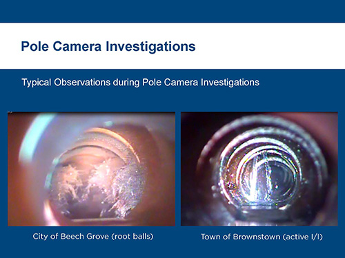 Using pole camera for sewer inspections
