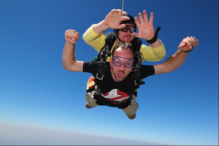 Jim skydiving