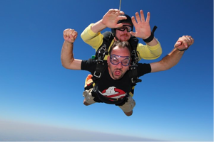 Jim skydiving