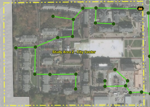 GIS sewer utility map
