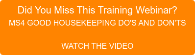 Did You Miss This Training Webinar?  MS4 GOOD HOUSEKEEPING DO'S AND DON'TS  WATCH THE VIDEO