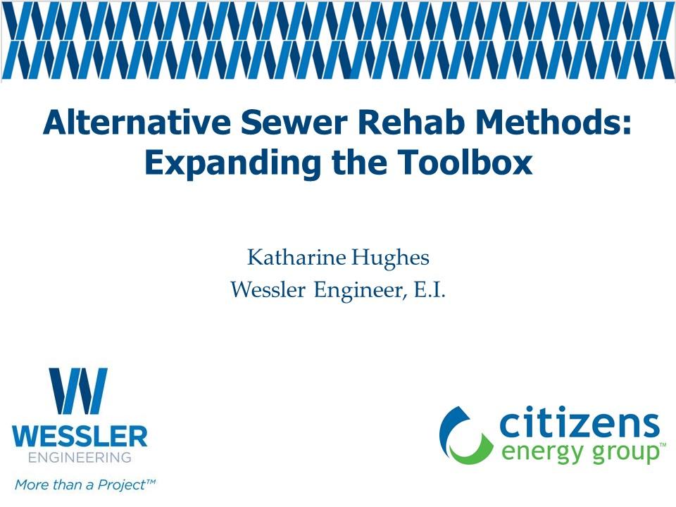 [Webinar Recording]:Alternate Sewer Rehabilitation Methods: EXpanding the Toolbox